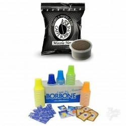 600 CAPSULE COMPATIBILI ESPRESSO POINT CAFFE' BORBONE MISCELA NERA + KIT 600 ACCESSORI CAFFE' BORBONE.