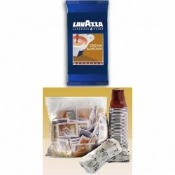 300 CAPSULE LAVAZZA ESPRESSO POINT CREMA E AROMA + KIT 300 ACCESSORI