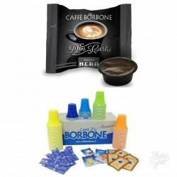 CAPSULE CAFFE' BORBONE DON CARLO NERA + KIT  ACCESSORI CAFFE' BORBONE